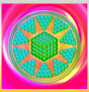 Blume des Lebens Cube
